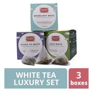 White Tea Time Luxury Foil Pouch 3 Box Edition Set