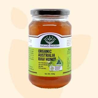 Nature's Nutrition Organic Australia Raw Honey