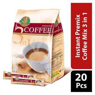KOPIMAS Instant Premix Coffee Mix 3 in 1
