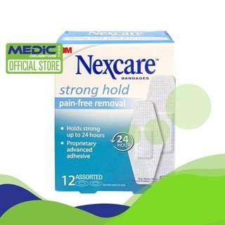 3M Nexcare Bandages Strong Hold (Pain-Free) 12s