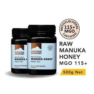 Mountain Harvest Manuka Honey MGO 115+ 500g (Bundle of 2)
