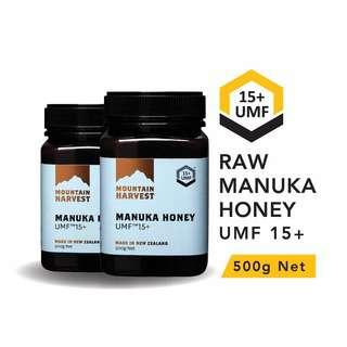 Mountain Harvest Manuka Honey UMF 15+ 500g (Bundle of 2)