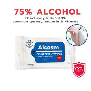 Alcosm Alcohol Disinfectant Wipes