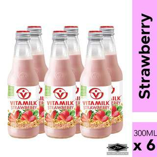 Vitamilk Strawberry Soymilk drink