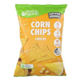 Absolute Organic Cheese Chips Corn