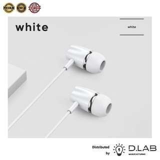 D.LAB MANUFACTURING Dynamic In-Ear Wired Headphone (White)