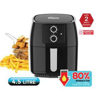 POWERPAC (PPAF308) Air fryer 4.5L with Hot Air Flow System
