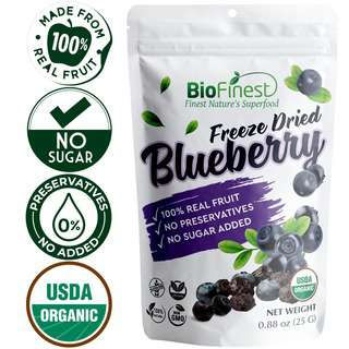 Biofinest Freeze-Dried Blueberry Snack Organic Fruit No Sugar