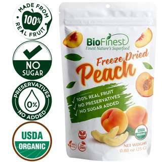 Biofinest Freeze-Dried Peach Snack Organic Real Fruit No Suga