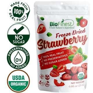 Biofinest Freeze-Dried Strawberry Snack Organic Fruit No Suga
