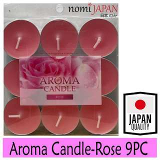 Nomi Japan Rose Scented Aroma Candle 9Pcs