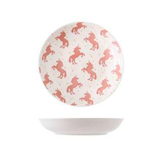 Table Matters Unicorn Pink - Hand Painted 7 inch Coupe Plate