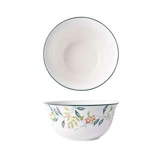Table Matters Holly Green - Hand Painted 6 inch Soup Bowl