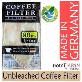 Nomi Japan Unbleached Brown Coffee Filter 90Pcs