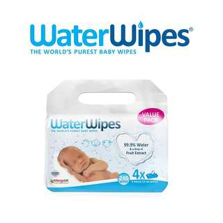 WaterWipes Baby Wipes Value Pack (4 packs of 60s)