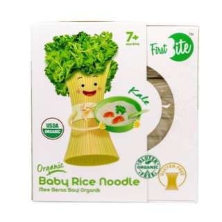First Bite Organic Baby Rice Noodle- Kale 6x30-