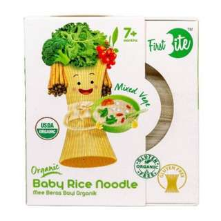 First Bite Organic Baby Rice Noodle- Mixed Vege 6x30-