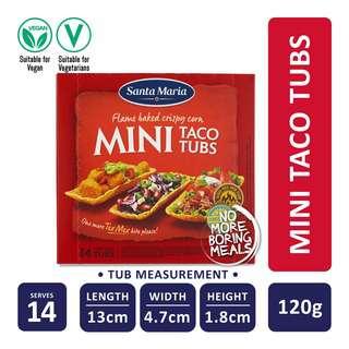 Santa Maria Tex Mex Mini Taco Tubs (14-Pack)