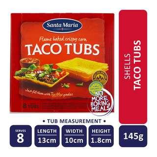 Santa Maria Tex Mex Taco Tubs (8-Pack)