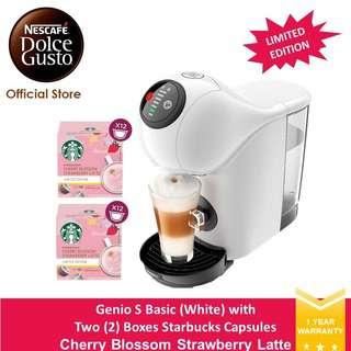 NESCAFE Dolce Gusto Genio S Basic w 2 Strawberry Latte (W)