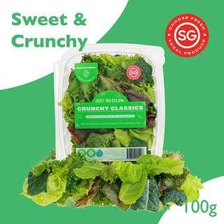 Just Produce Just Mesclun: Crunchy Class