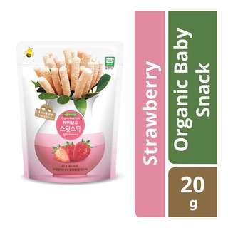 FarmToBaby Organic Rice Puff Rainbow Sweet Sticks -Strawberry