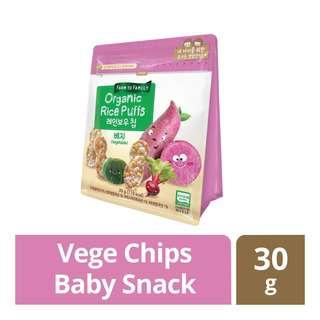 FarmToBaby Organic Rice Puff Rainbow Chip (6m) - Vege