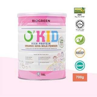 Biogreen O'Kid High Protein Organic Soya Milk Powder