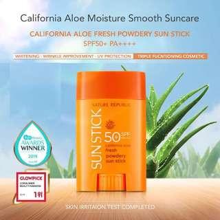 Nature Republic California aloe fresh powdery sun stick