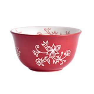 Table Matters Spring Celebration (Red) - 4.5 inch Rice Bowl