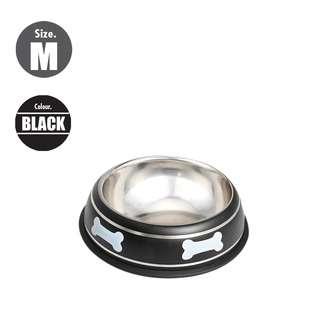 Nunbell 22cm Pet Steel Bowl - Black