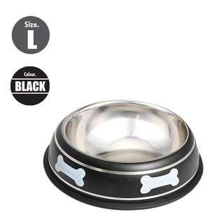 Nunbell 26cm Pet Steel Bowl - Black
