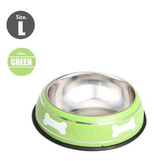 Nunbell 26cm Pet Steel Bowl - Green