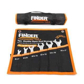 FINDER 6pcs Double Open End Matt Finish Wrench Set