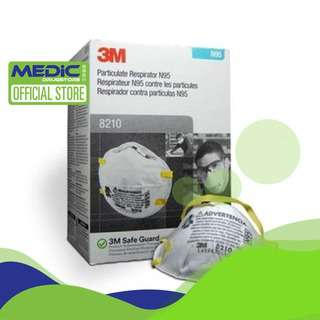 3M Particulate Respirator 8210 N95 Mask 20s