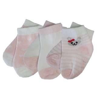 Bebe Bamboo Socks - Pink Bunny 1-2Y