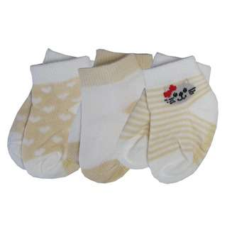 Bebe Bamboo Socks - Yellow Kitty 6-12M