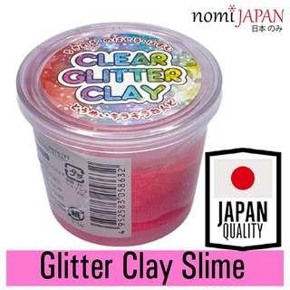 Nomi Japan Transparent Pink Glitter Clay for Kids 80G