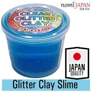 Nomi Japan Transparent Blue Glitter Clay for Kids 80G