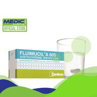 Fluimucil A 600 Effervescent Tabs 10s - By Medic Drugstore