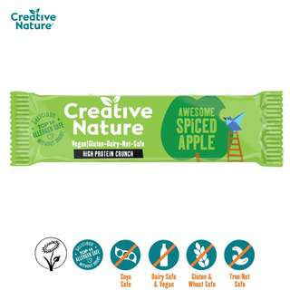 Creative Nature Awesome Spiced Apple Protein Crunch Bar
