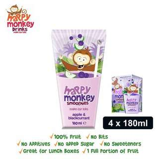 Happy Monkey Apple and Blackcurrant Smoothies