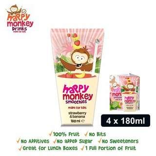 Happy Monkey Strawberry and Banana Smoothies