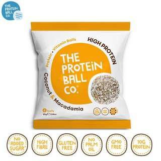 The Protein Ball Co. Coconut Macadamia Protein Balls