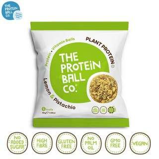 The Protein Ball Co. Vegan Lemon Pistachio Protein Balls