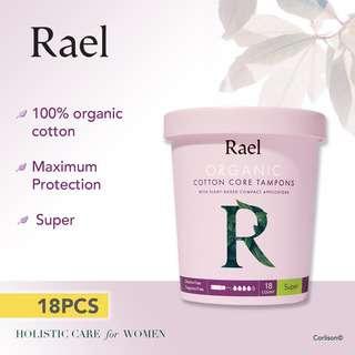 Rael Super Organic Cotton Tampons Compact Applicator 18s