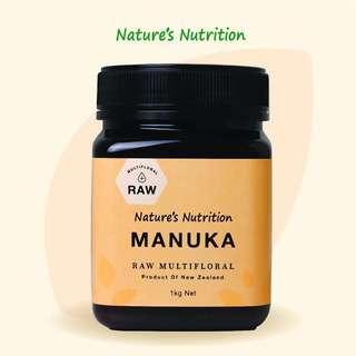 Nature Nutrition Raw Multifloral Manuka Honey