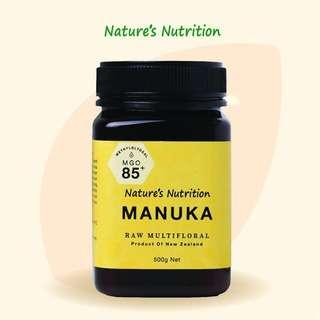 Nature Nutrition Raw Manuka Honey MGO 85+