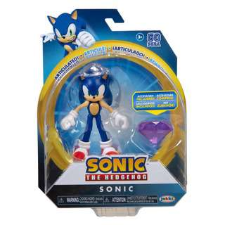 Sonic The Hedgehog 4-Inch Sonic with Chaos Emerald Accessory