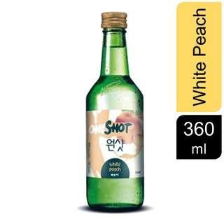 OneShot White Peach Soju Pint